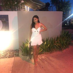 White Frill Mini Dress